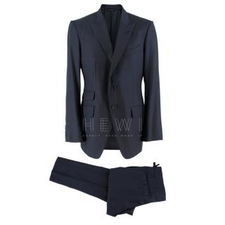 Tom Ford Navy Blue Wool Single Breasted Suit