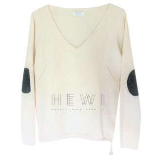 Zadig & Voltaire Cream Cashmere Atsui Sweater