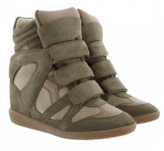 Isabel Marant Suede Taupe Bekett Sneakers