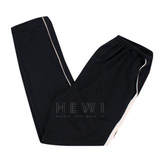 Lanvin Black Pants with Contrast Side Stripe