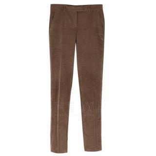 Loro Piana Brown Corduroy Trousers