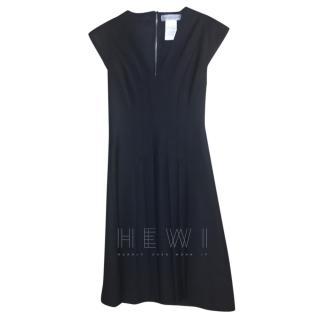 Sportmax Pleated Black Sleeveless Dress