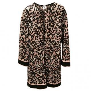 M Missoni Leopard Print Cardigan
