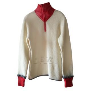Sonia Rykiel Wool Half Zip Jacket