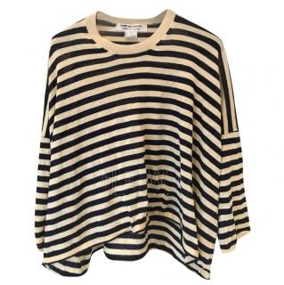 Comme Des Garcons Striped Oversize Top