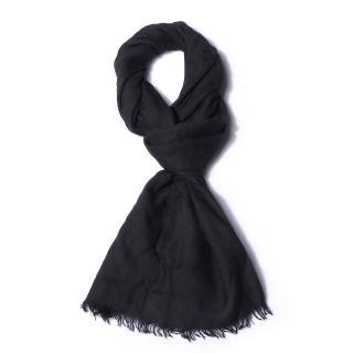 Gucci Black Wool & Silk Monogram Scarf