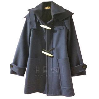 Marni navy duffle style coat