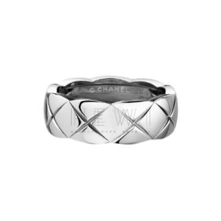 Chanel Small 18k White Gold Small Coco Rush Ring