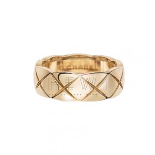 Chanel 18k Beige Gold Small Coco Crush Ring