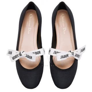 Dior Miss J'adior technical canvas ballerina flats