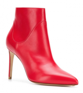 Francesco Russo Ankle Bootie in Nappa Kiss Rosso