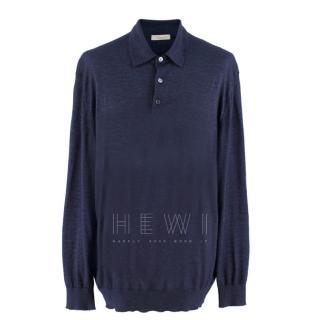 Ermenegildo Zegna Blue Men's Cashmere Blend Pullover