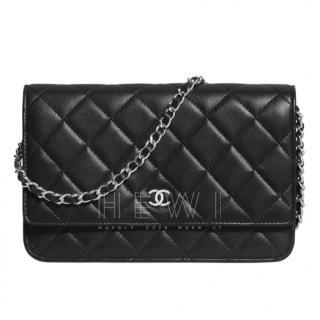 Chanel Black Lambskin Wallet On Chain