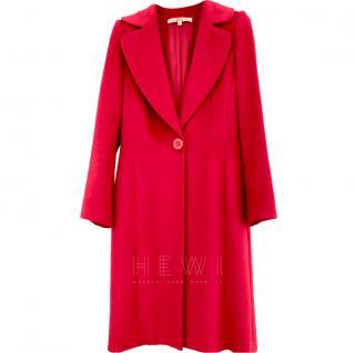 Ferre Red Angora Wool & Silk Coat