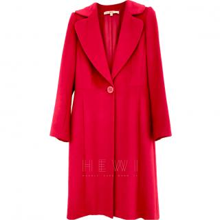 Ferre Red Angora Wool & Silk Coat