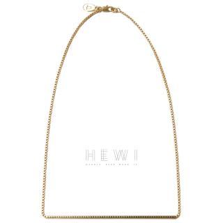 Jasmina Jovy Gold Tone Bar Necklace