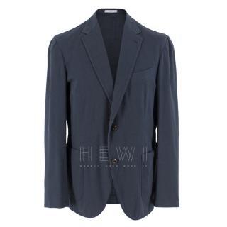 Boglioli Navy Cotton Blend Blazer