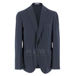 Boglioli Navy Cotton Blend Blazer