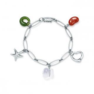 Tiffany & Co. Elsa Peretti Silver Five-Charm Bracelet