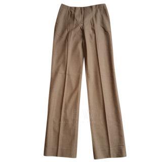 Loro Piana Wool & Angora Straight Cut Trousers