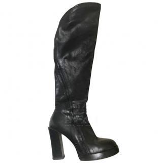 Ann Demeulemeester Black Block Heeled Boots