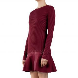 Stella McCartney Wool-Blend Ribbed Knit Dress