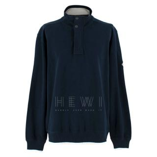 Henri Lloyd Blue Cotton Jumper