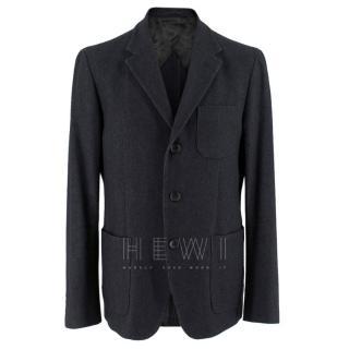Bespoke Mario Matteo Wool & Cashmere Charcoal Jacket