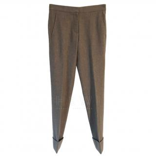 Stella McCartney Taupe Wool Tapered Trousers