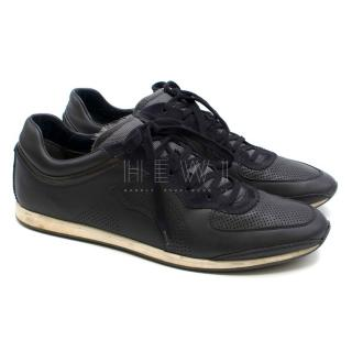 Salvatore Ferragamo Leather Men's Black Sneakers