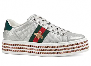 Gucci New Ace Quilted Leather Platform Sneakers