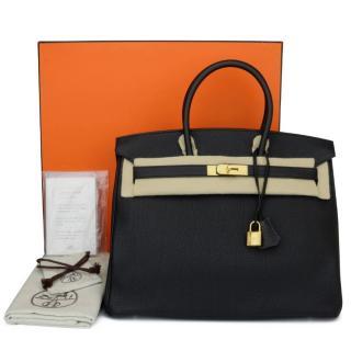 Hermes Black Togo Leather 35cm Birkin