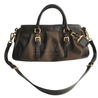 Prada Brown Logo Jacquard handbag