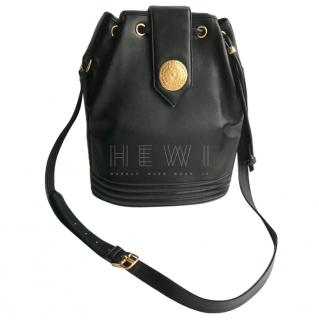 Yves Saint Laurent Black Leather Bucket Bag