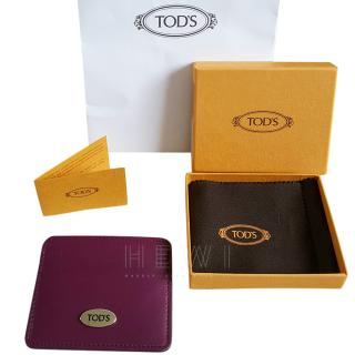 Tod's Pink Leather Card Holder