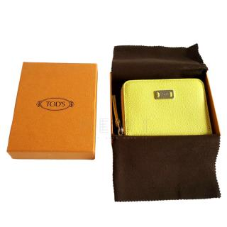 Tod's Yellow Leather Card Holder