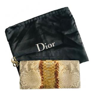 Dior Lady Dior Python Chain Clutch