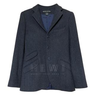 Ralph Lauren Black Label Angoral Wool Blend Blazer