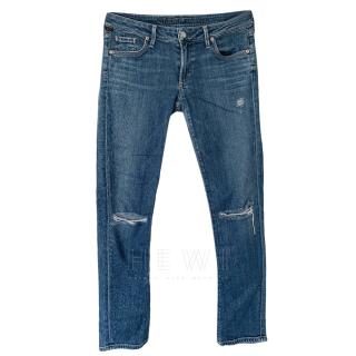 Citizens of Humanity Blue Distressed Jeans