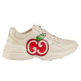 Gucci Women's Rhyton GG apple sneakers