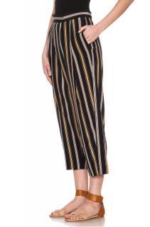 Chloe Rough Stripes Silk Pants in Multi