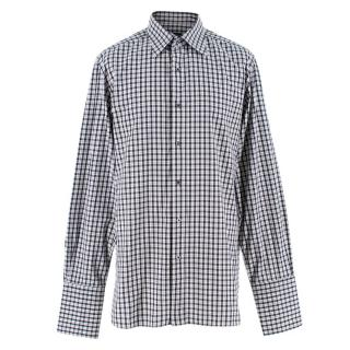 Tom Ford Checked Button-Up Long Sleeve Shirt