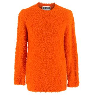 Moschino Couture Orange Fuzzy Jumper