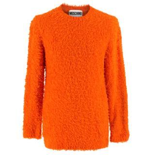 Moschino Couture Orange Fuzzy Jumper