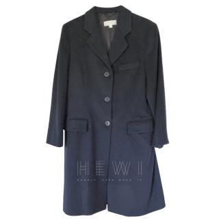 Barney's New York Navy Cashmere Coat