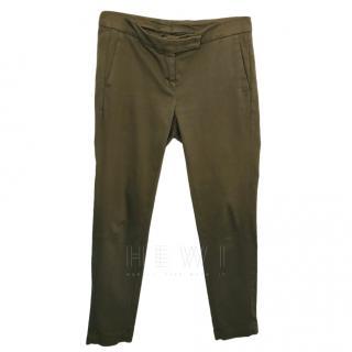 Brunello Cucinelli taupe cotton trousers