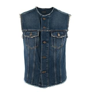 Saint Laurent Cutoff Jeans Jacket