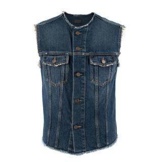 Saint Laurent Cutoff Jeans Jacket