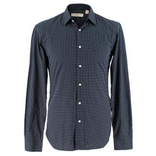 Burberry Navy Micro Polka Dot Shirt