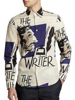 Burberry 'The Writer' Printed Cotton Poplin Shirt
